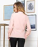 Молодежная классическая блуза норма с длинным рукавом на пуговицах, пять цветов р.42,44,46,48 код 444А, фото 4