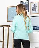 Молодежная классическая блуза норма с длинным рукавом на пуговицах, пять цветов р.42,44,46,48 код 444А, фото 6
