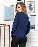 Молодежная классическая блуза норма с длинным рукавом на пуговицах, пять цветов р.42,44,46,48 код 444А, фото 2