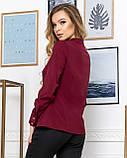 Молодежная классическая блуза норма с длинным рукавом на пуговицах, пять цветов р.42,44,46,48 код 444А, фото 10