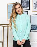 Молодежная классическая блуза норма с длинным рукавом на пуговицах, пять цветов р.42,44,46,48 код 444А, фото 5
