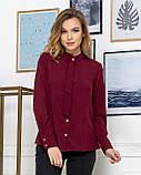 Молодежная классическая блуза норма с длинным рукавом на пуговицах, пять цветов р.42,44,46,48 код 444А, фото 9