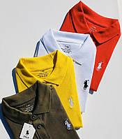 Футболка поло детская для девочки или мальчика с вышивкой