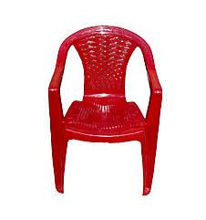 Кресло садовое пластиковое Консенсус КРАСНЫЙ 560х555х805 мм