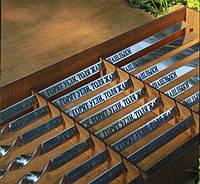 Шампур с деревяной ручкой 14мм с гравировкой  750*14*3, фото 1