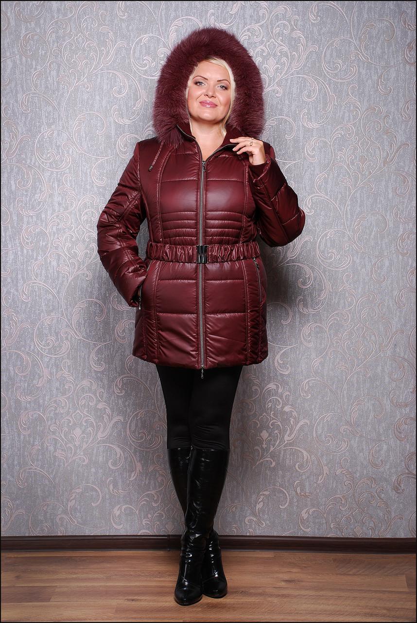 Женская зимняя куртка из плащевки К 103-15 р. 64