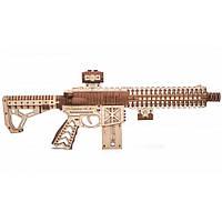 Штурмовая винтовка AR-T (М16) (496 деталей) Wood Trick - механический 3д пазл