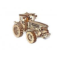 Трактор Wood Trick - механический 3д пазл