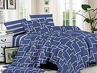 Двуспальный комплект постельного белья евро 200*220 сатин (14364) TM КРИСПОЛ Украина