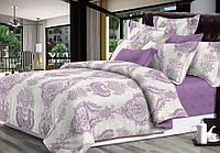 Двуспальный комплект постельного белья евро 200*220 сатин (14365) TM КРИСПОЛ Украина