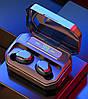 Беспроводные сенсорные наушники гарнитура в кейсе с павербанком с микрофоном NiYE TT5 Bluetooth Черные - Фото