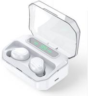Беспроводные наушники-Powerbank с микрофоном Amoi TT5 Белые