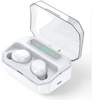 Беспроводные сенсорные наушники гарнитура в кейсе с павербанком с влагозащитой NiYE TT5 Bluetooth Белые