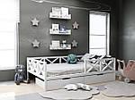 Дитяча дерев'яне ліжко Міккі з ящиками 80х190, фото 2