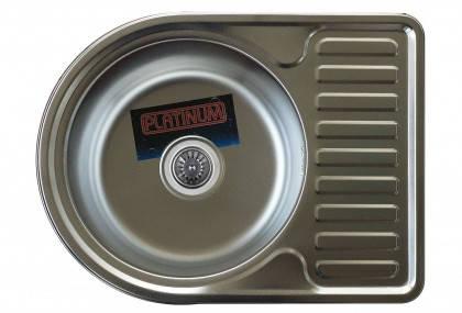 Мойка из нержавеющей стали 08мм Platinum 5844 сатин, фото 2