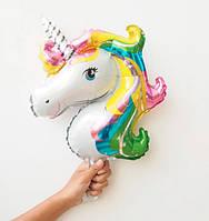 Фольгована кулька міні-фігура єдиноріг голова 27х51,5см Китай