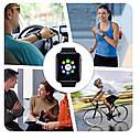 Умные часы Uwatch А1 Smart Watch Gold GT08 Смарт часы телефон Фитнес-браслеты (Золотые), фото 6
