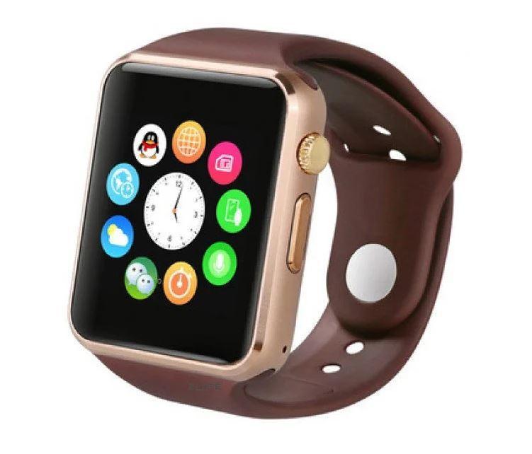 Умные часы Uwatch А1 Smart Watch Gold GT08 Смарт часы телефон Фитнес-браслеты (Золотые)