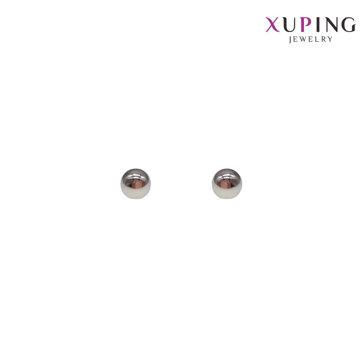 Сережки Xuping гвоздики, розмір 2,5х2,5 мм, вага 0,9 м, родій (біле золото), ХР00718 (1)