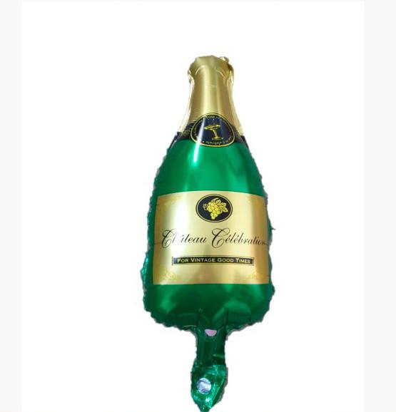 Фольгована кулька міні-фігура бутилка шампанського Китай