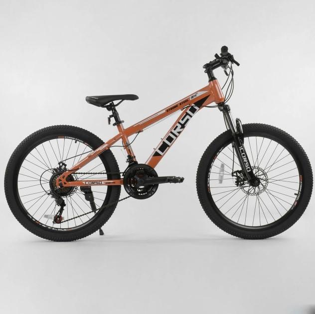 """Подростковый скоростной велосипед Corso Strong 24"""" ( 12 рама)"""