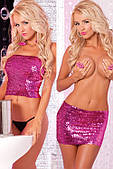 Топ-юбка Sequin Tube Top or Skirt Pink S/M