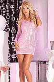 Платье Glitterati sequin dress pink M/L