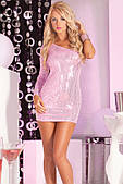 Платье Glitterati sequin dress pink S/M