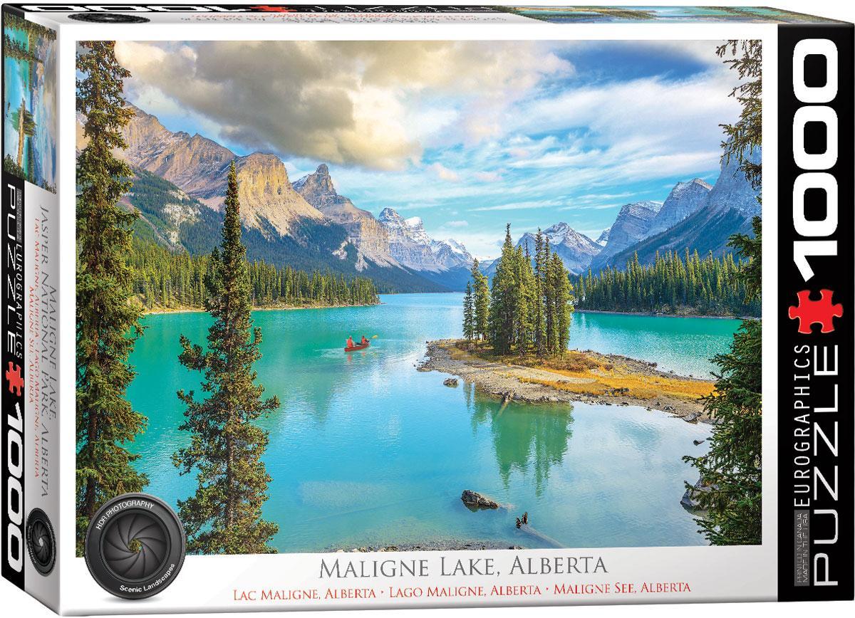 """Пазл """"Озеро Малайн, Альберта"""" 1000 элементов EuroGraphics (6000-5430)"""
