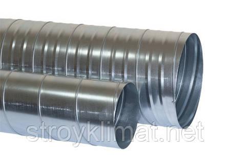 Труба d1250 L 2(м) 0,9 мм оцинкованная спирально-навивная, фото 2