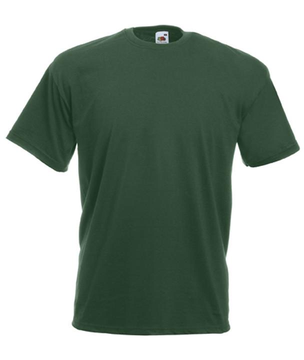 Футболка мужская темно-зеленая Fruit of the Loom