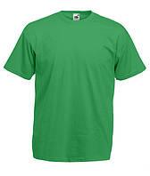 Футболка мужская ярко-зеленая Fruit of the Loom, фото 1