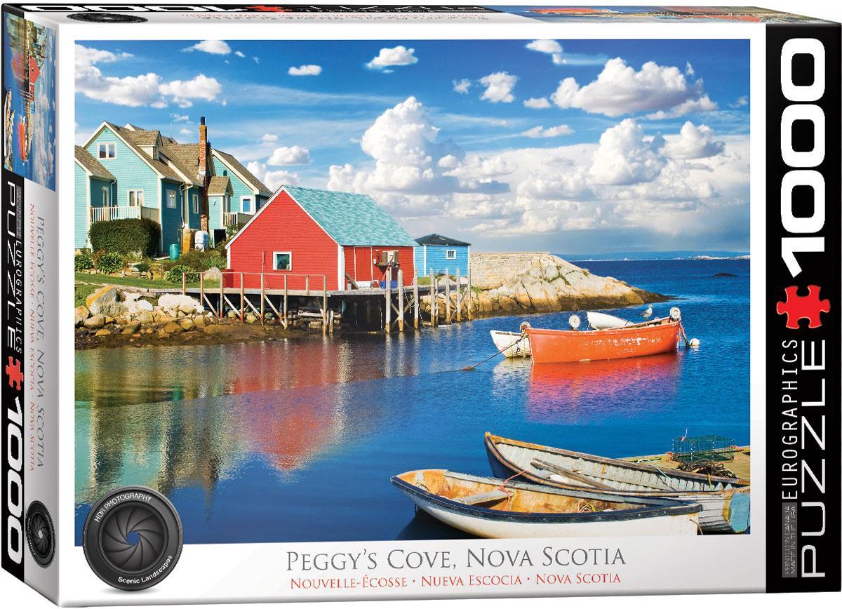 """Пазл """"Пегги Коув. Новая Шотландия"""" 1000 элементов EuroGraphics (6000-5438)"""