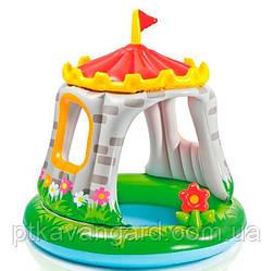 """Надувной детский бассейн Intex с навесом """"Королевский дворец"""", 68л, размер 122х122 см, от 1 до 3 лет 57122 NP"""