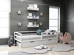 Дитяча дерев'яне ліжко Кіндер з ящиками 80х190