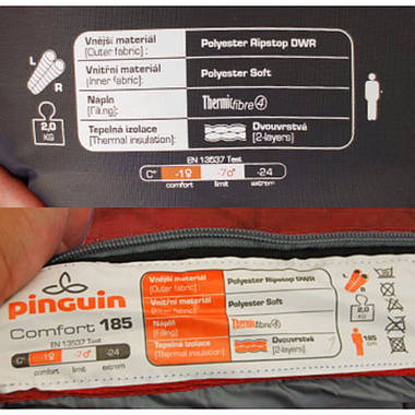 Спальний мішок Pinguin Comfort 195 Red Right Zip, фото 3