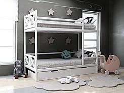 Двухъярусная кровать Лиана с ящиками 90х190 см. ТМ MegaOpt
