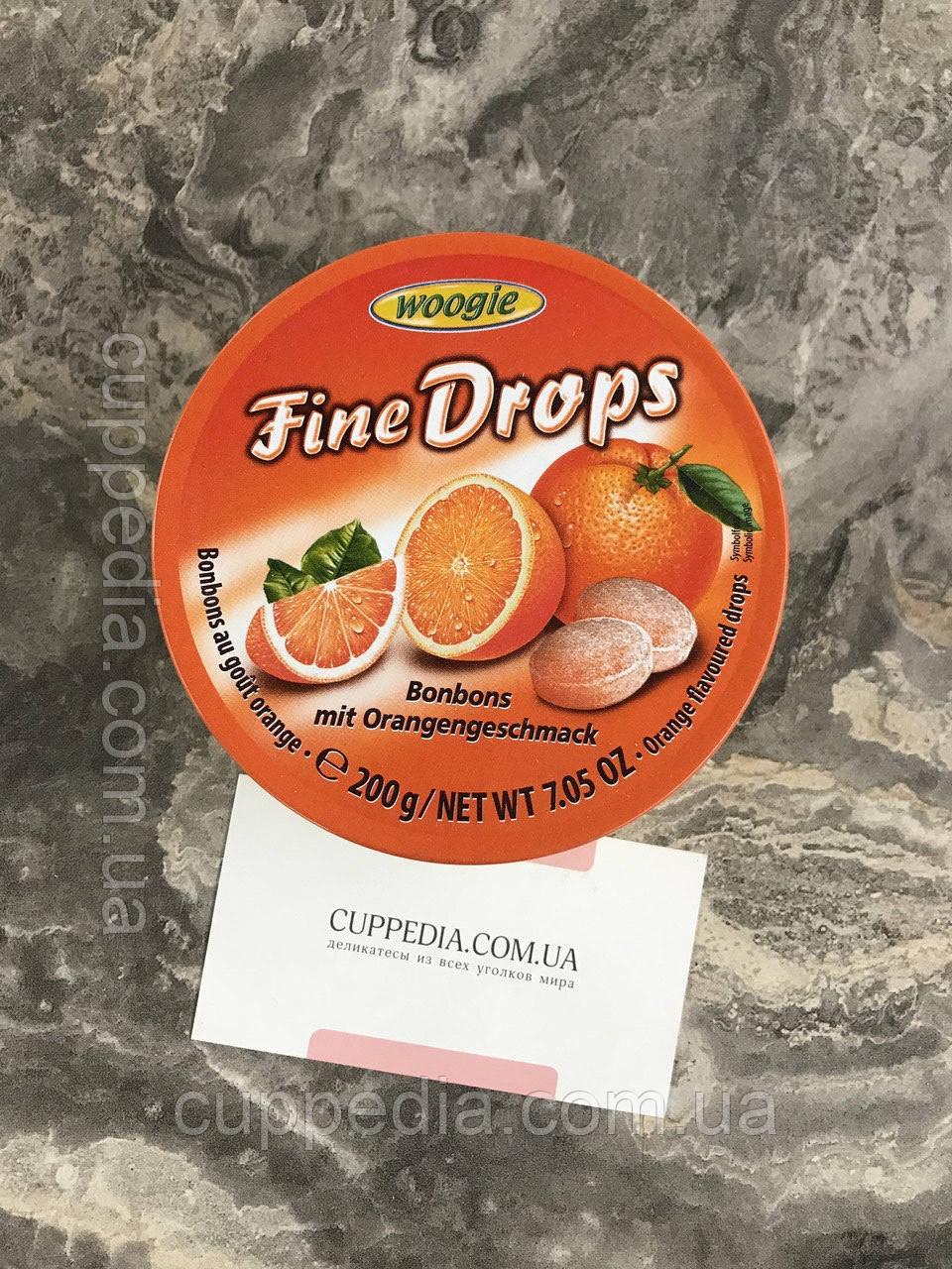 Леденцы Woogie Fine Drops  со вкусом апельсина 200 грм