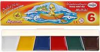 """Гамма Акварельные краски """"Мультики"""" 6 цветов, 211046"""