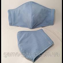 Многоразовая 3 слойная защитная  трикотажная тканевая маска, маска для лица многоразовая мягкая