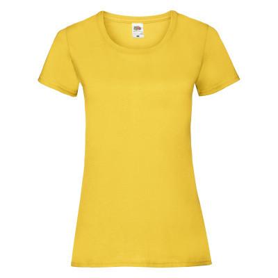 Футболка женская Fruit of the Loom желтого цвета XS