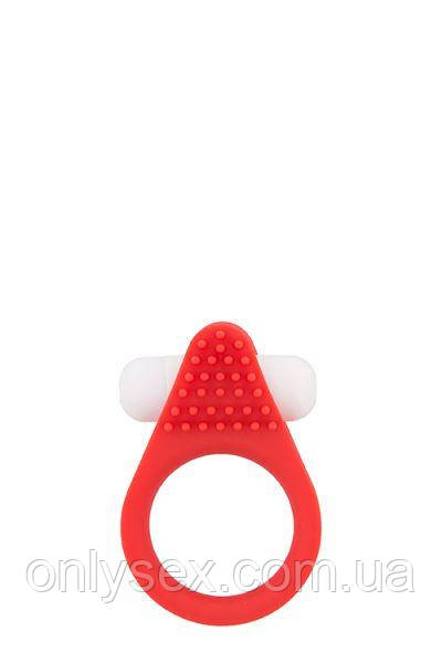 Эрекционное кольцо LIT-UP SILICONE STIMU RING 1, RED
