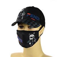 """Комплект кепка и маска """"Fendi"""""""
