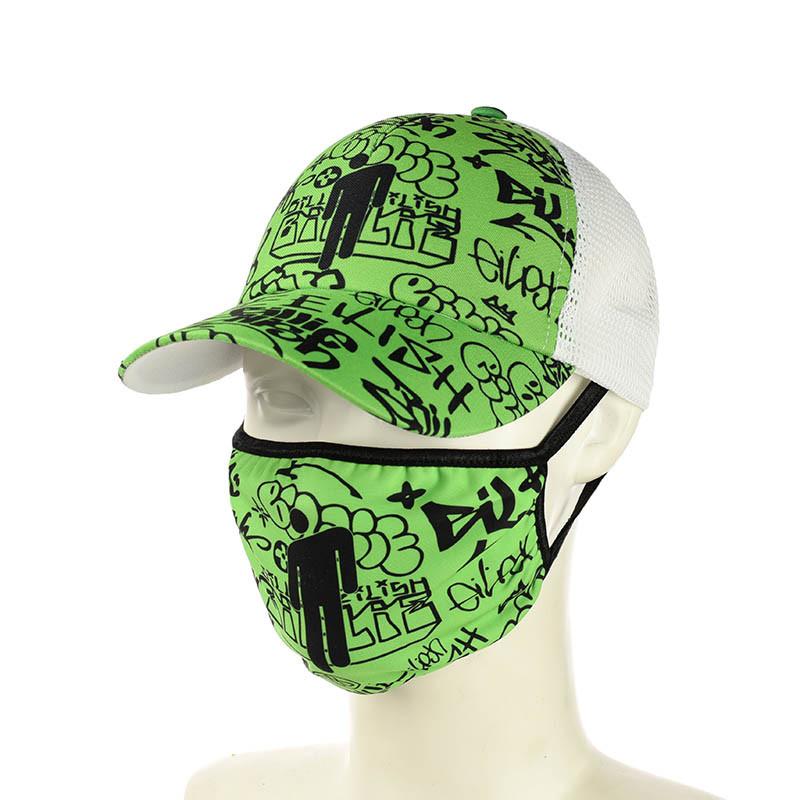"""Комплект кепка и маска """"Billie Eilish"""""""