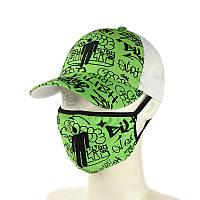 """Комплект кепка и маска """"Billie Eilish"""", фото 1"""