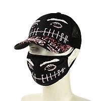"""Чорна кепка і маска """"Billie Eilish"""", фото 1"""