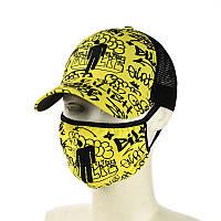 """Желтая кепка и маска """"Billie Eilish"""", фото 1"""