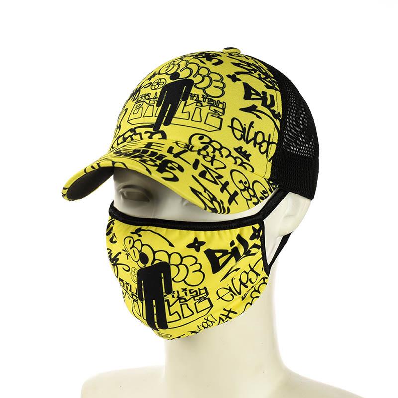"""Желтая кепка и маска """"Billie Eilish"""""""