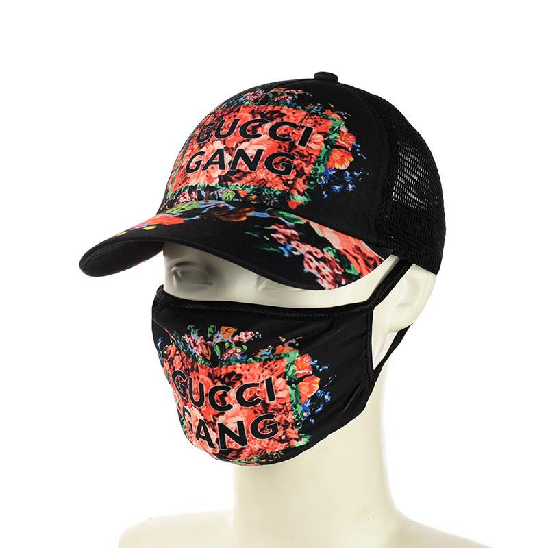 """Черная кепка и маска """"Gucci"""""""
