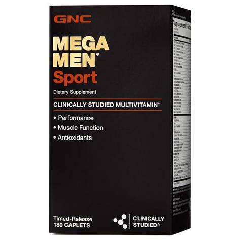 Витамины для мужчин GNC MEGA MEN SPORT 180 капс, фото 2